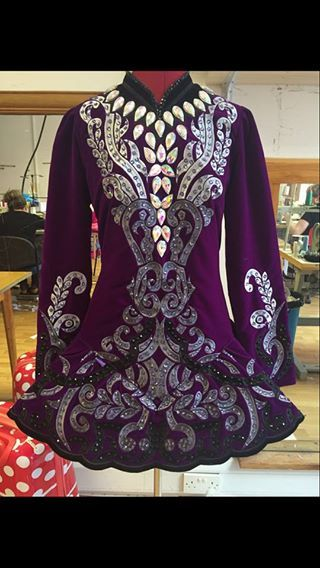 Stand Out Purple Taylor Dresses Irish Dance Dress Solo Costume For Sale
