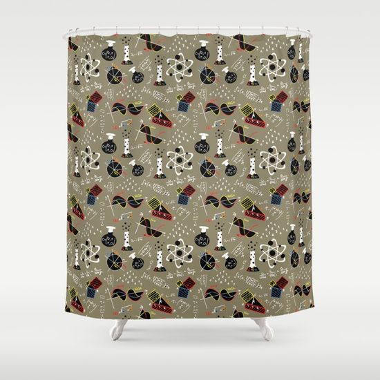 Science Shower Curtain With Images Rectangular Pillow Throw