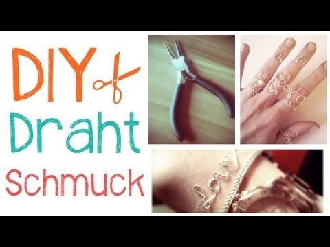 ▷ ♥ DIY Draht Schmuck l Lisadorable96 - YouTube | Wire jewelry ...