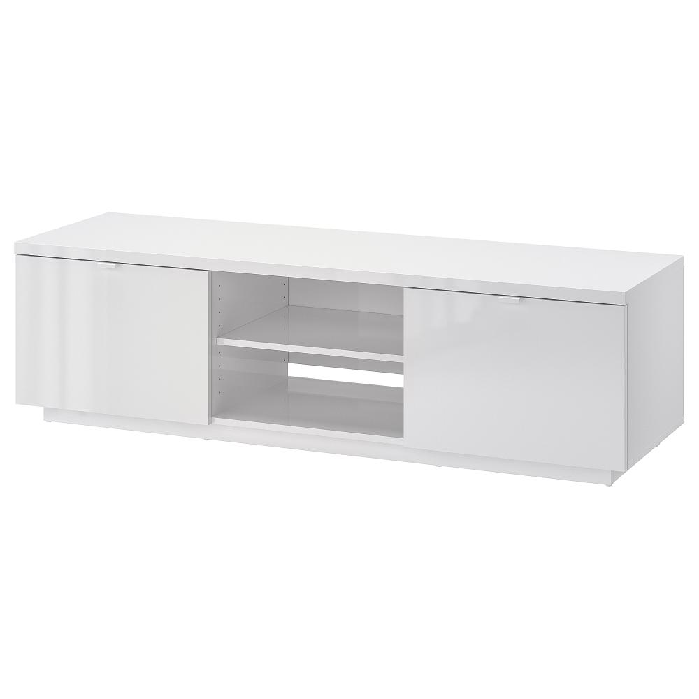 Byas Tv Unit High Gloss White 63x16 1 2x17 3 4 Ikea Ikea Tv Stand White Tv Unit High Gloss White