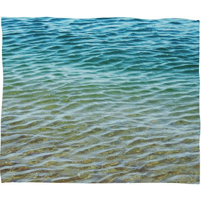 Brayden Studio Meunier Ombre Sea Throw Blanket Size: Large