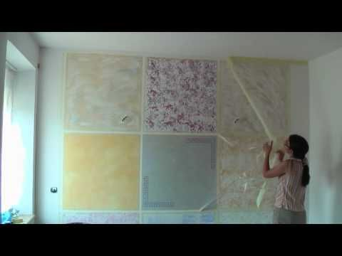 Kreative Wandgestaltung   Wischtechnik, Lasurtechnik   Wand Streichen    Farbe   Schablone   YouTube