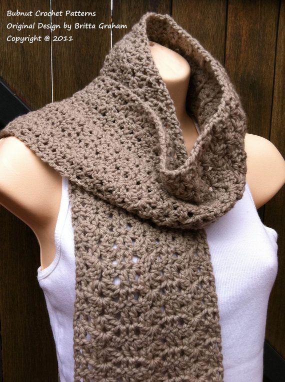Crochet Scarf Pattern - Willow Scarf Crochet Pattern No.511 Instant ...