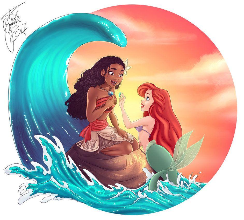 Disney Princess Gallery Slideshow: Moana And Ariel By Jostnic.deviantart.com On @DeviantArt