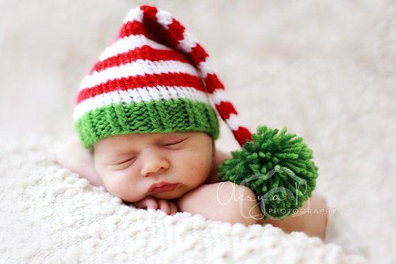 8b4be7e9c02 IN STOCK Newborn Santa little helper hat Baby Santa by BeezyMama
