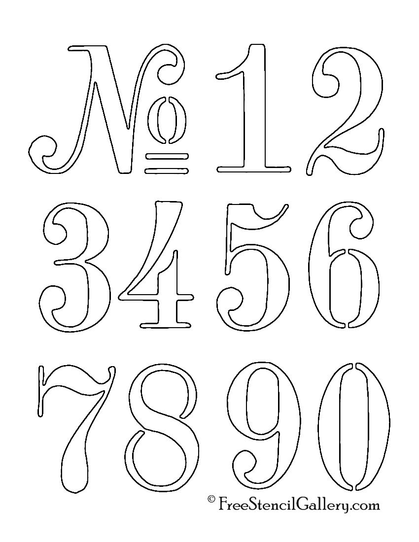 Numbers stencil pinteres for Free alphabet templates