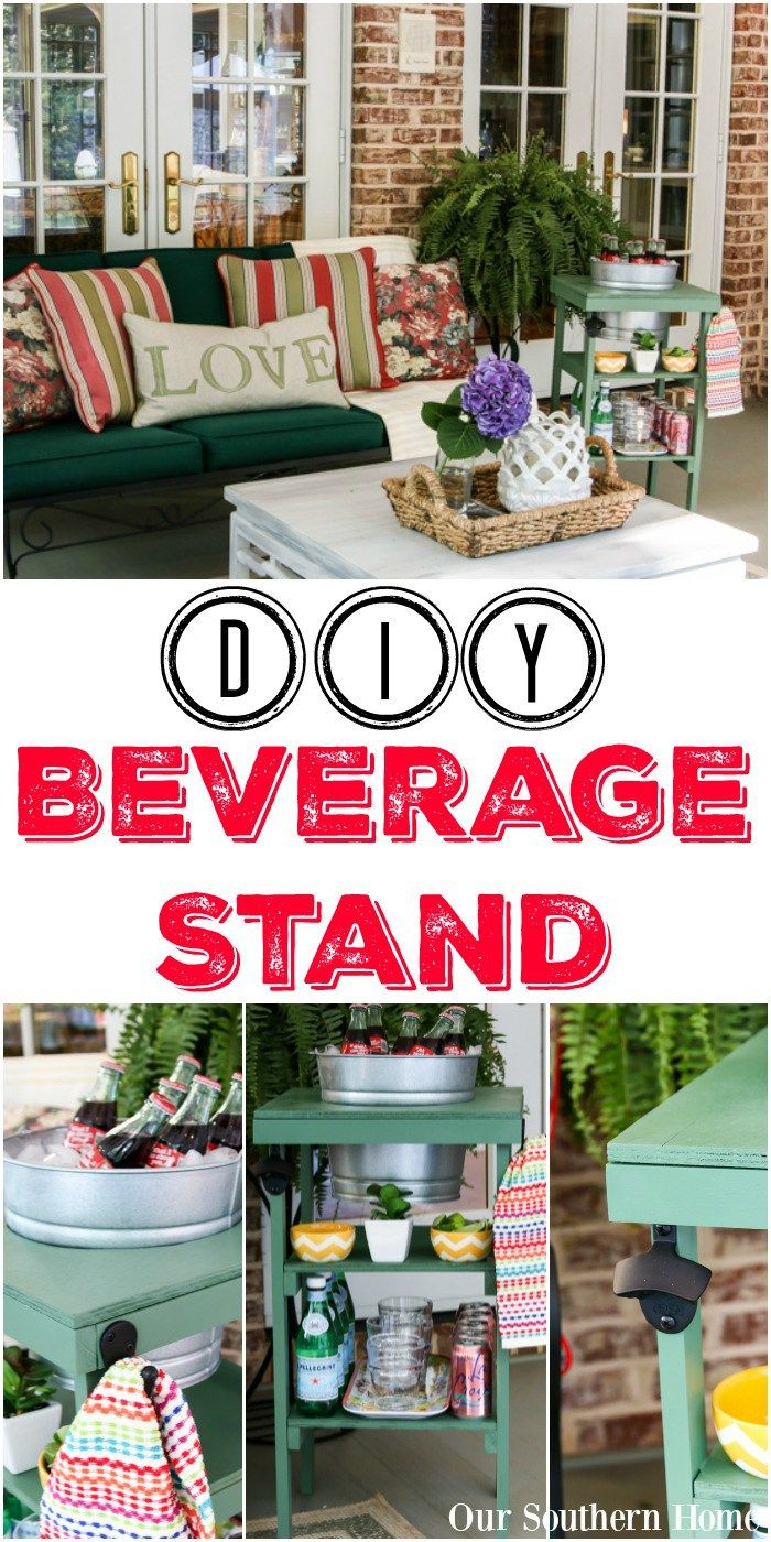 DIY Beverage Station Tutorial and Virtual Home Depot Party