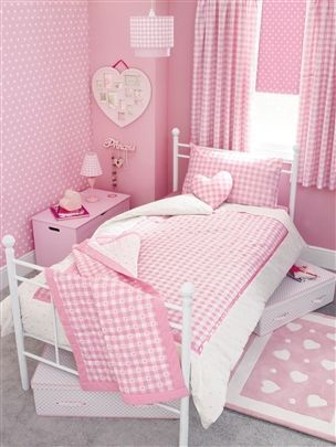 Pink Gingham Bedding Pink Bedroom For Girls Pink Room Shabby