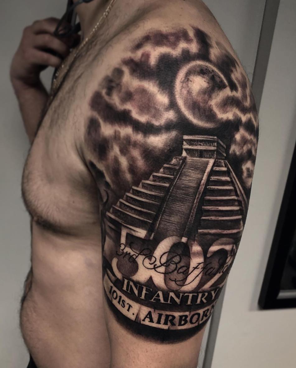 Aztec Temple Tattoo pinÃűşťîň Ķïñğ on tattoos   aztec tattoo designs