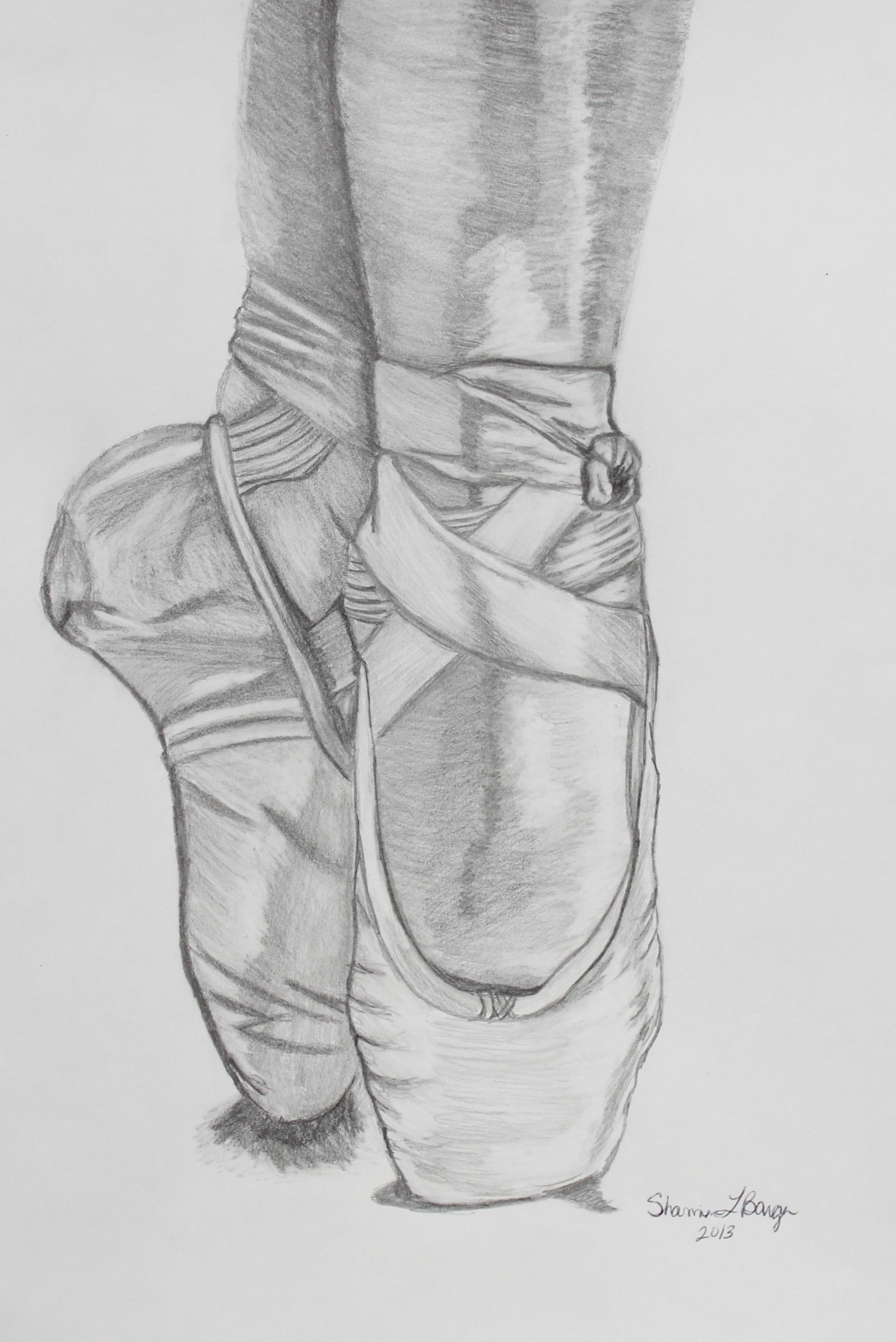 Ballerina shoes pencil drawing more