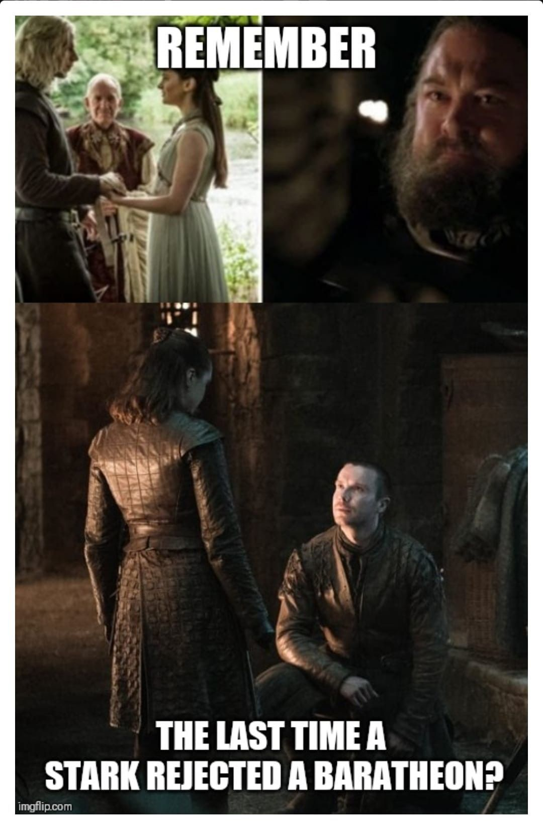 Never ends well. Episode 4, Season 8, Game of Thrones