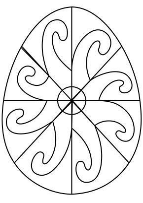 ausmalbild osterei bunte spiralen zum ausmalen. #