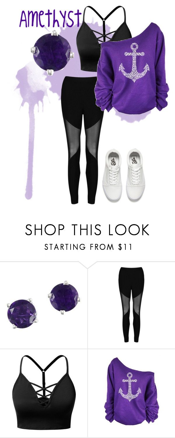 """""""Untitled #194"""" by fantast ❤ liked on Polyvore featuring Effy Jewelry, Boohoo, J.TOMSON, WithChic and Vans"""