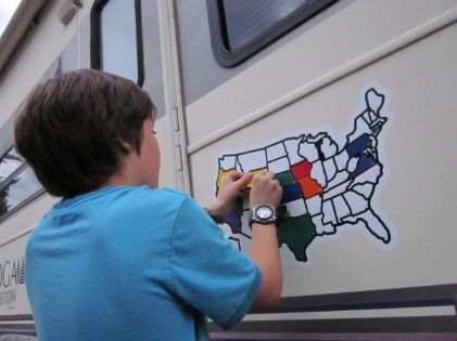 US map vinyl decal for your vehicle with colored stickers to ...