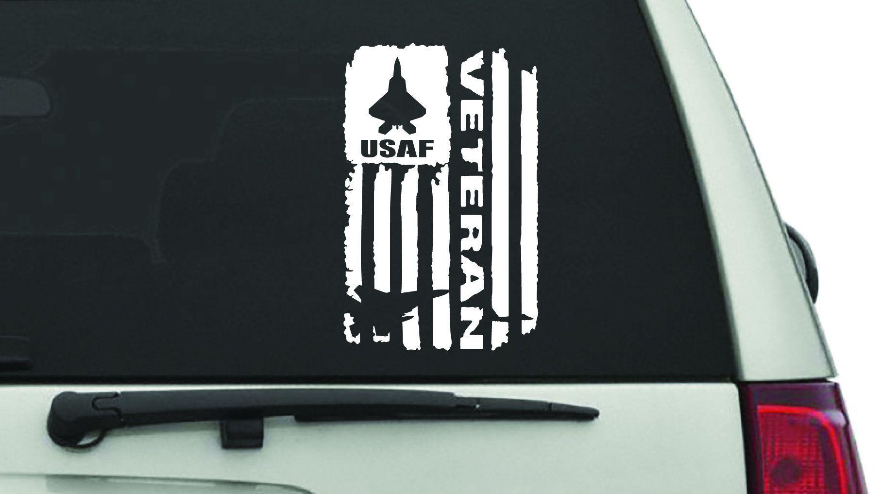 "Air Force Veteran window decal 5.5""X9"" vinyl decal USAF"