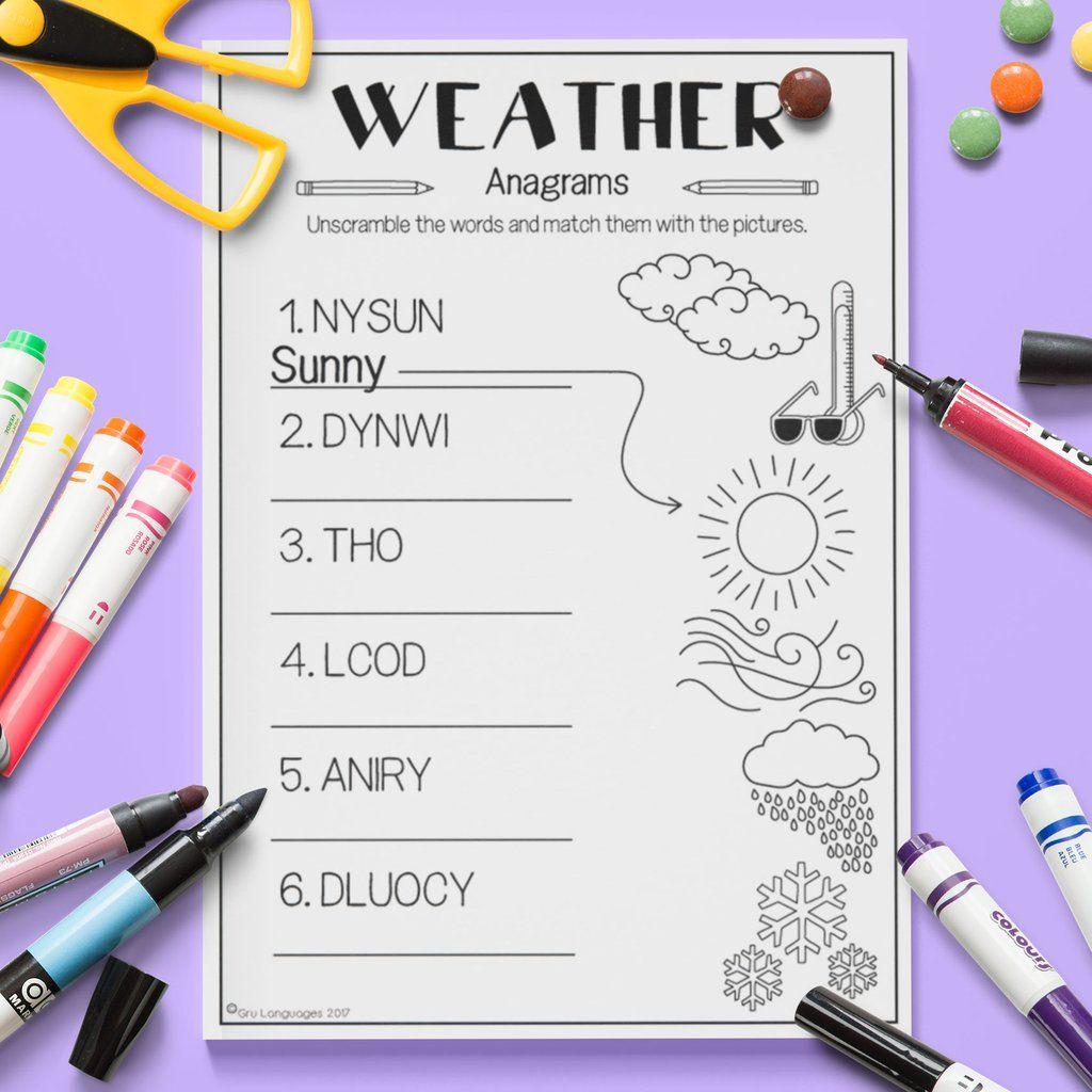 Weather Anagrams Con Imagenes
