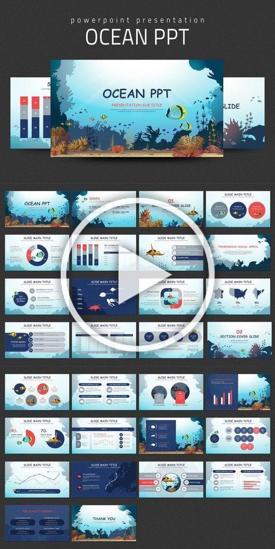 Ocean PPT Travel Infographics 2400