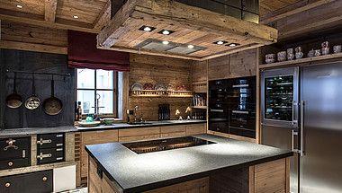Küche Im Luxus Chalet Schmiedalm Saalbach Hinterglemm Au Foyer In