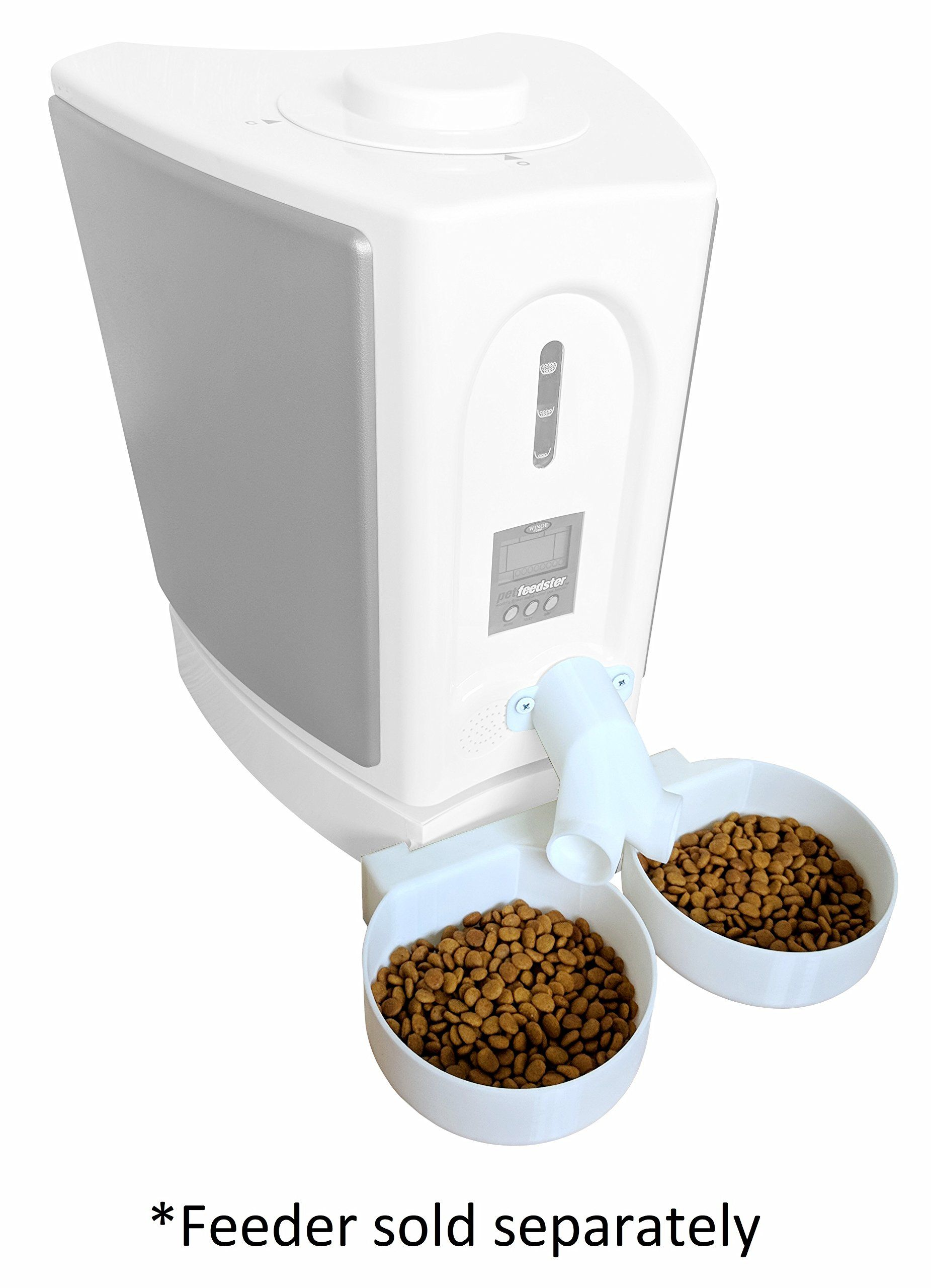 Twoway Splitter And Two Bowl Attachment For New Pet Feedster Pf10