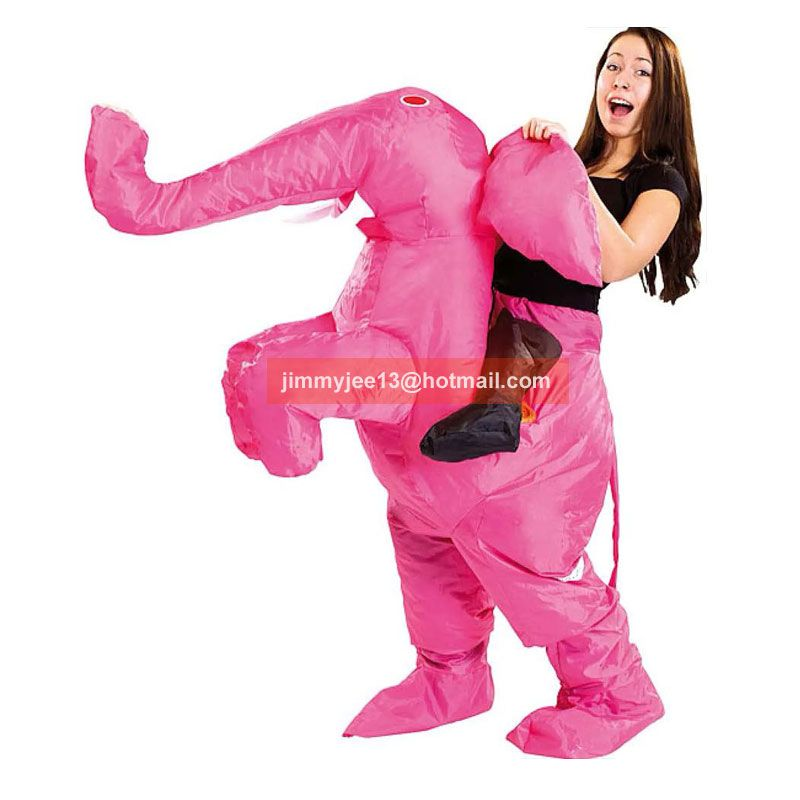 Animal Funny Elephant Party Blow Up Inflatable Costume Suit Adult ...