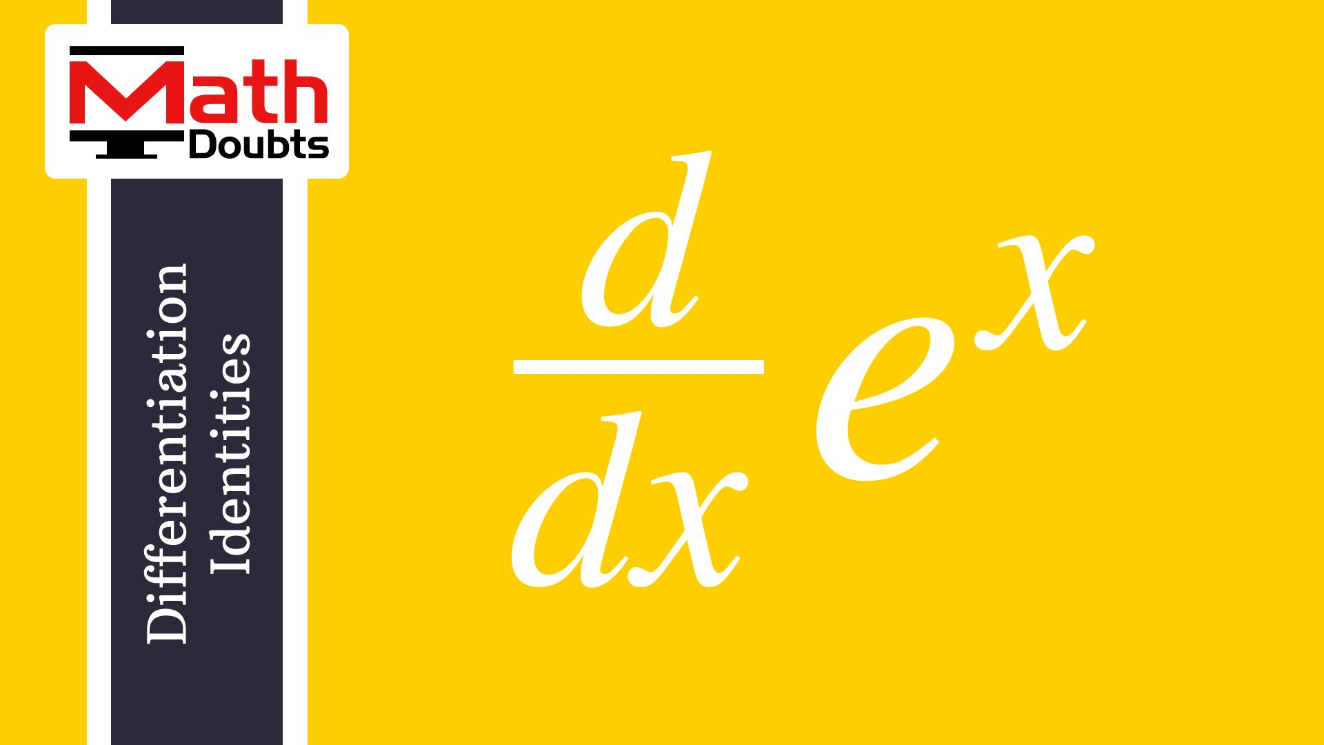 Derivative of e^x with respect to x