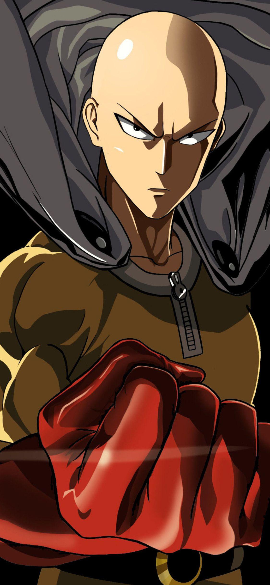 Https Hdqwalls Com Download One Punch Man 4k Of 1125x2436 Jpg Gambar Anime Gambar Karakter Ilustrasi 3d