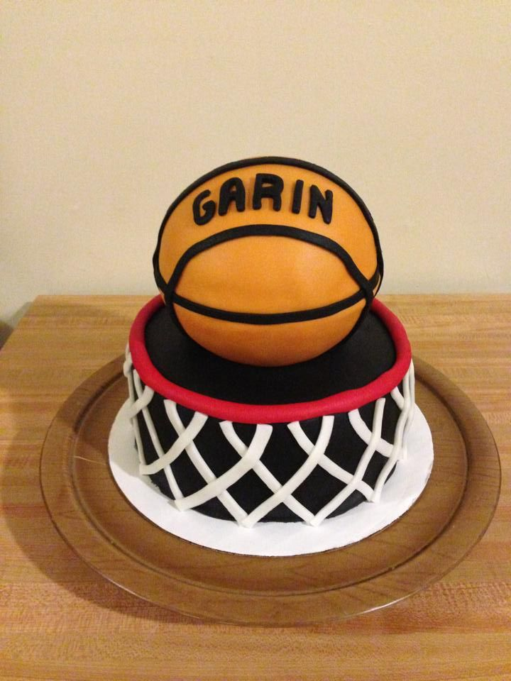 basketball and hoop birthday cake Male Birthday Cakes Pinterest