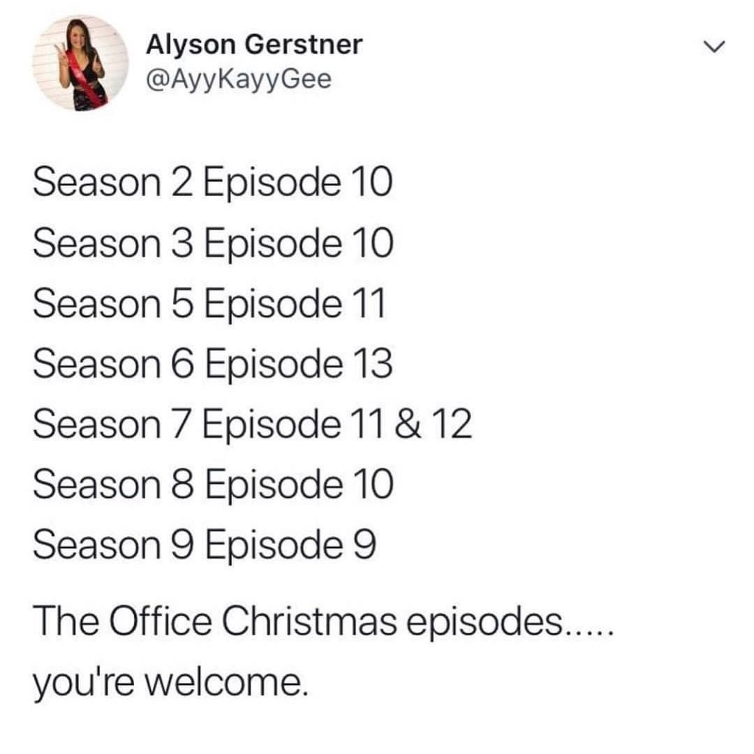 93 9k Likes 6 907 Comments Men S Humor Menshumor On Instagram Alyson You Re A Saint The Office Show The Office Office Christmas Episodes