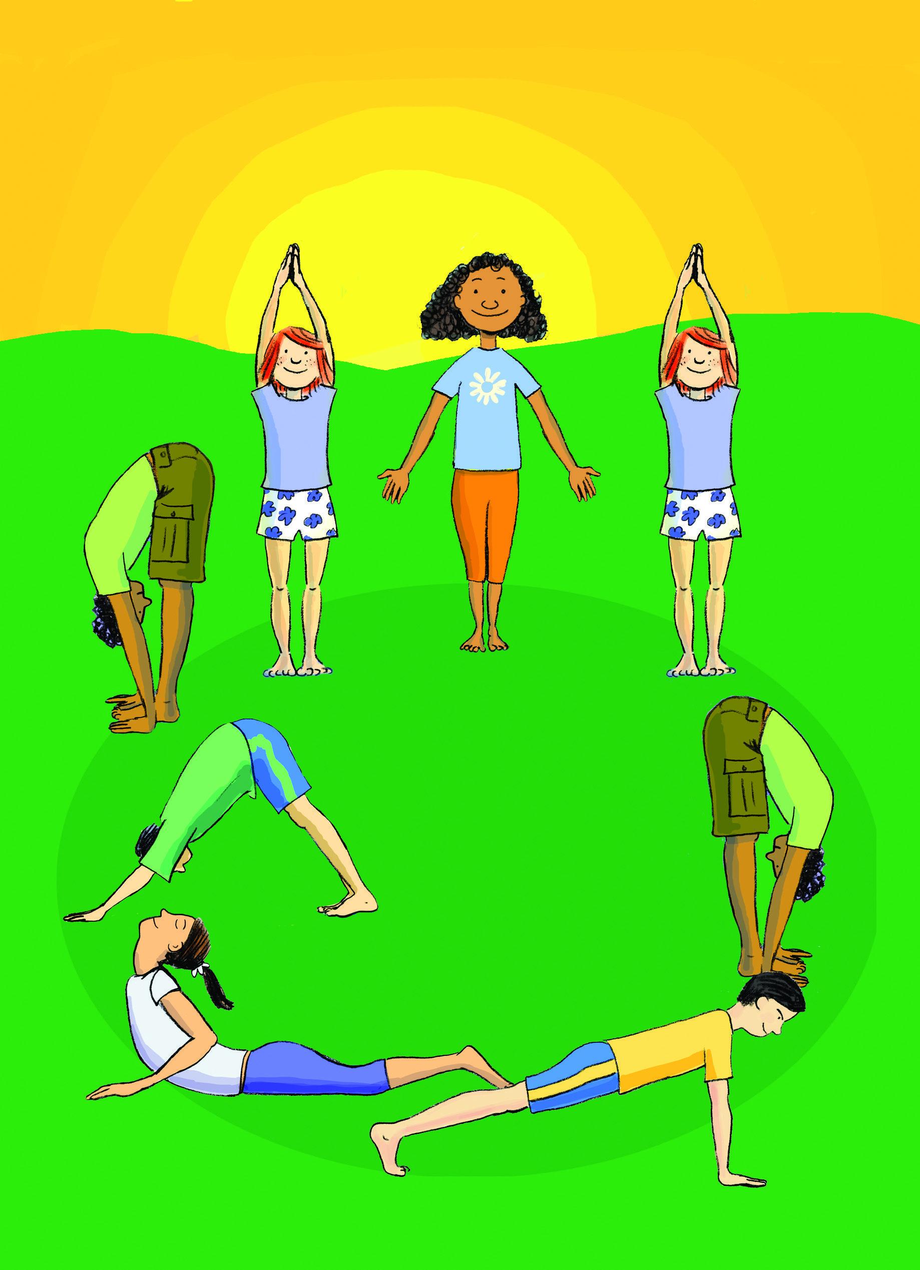 yoga poses for kids sun salutation - Google Search | kidyoga ...