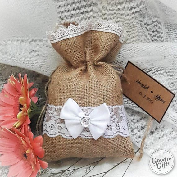 50 Natural Rustic Burlap Wedding Favor Bag 5 x 7 Drawstring Pouch Candy Gift Bag