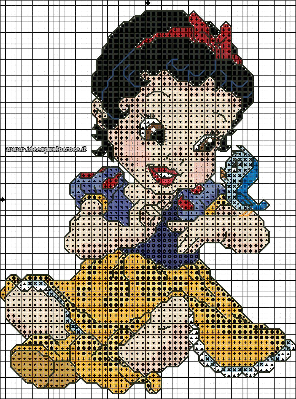 Schema Punto Croce Baby Biancaneve Punto De Cruz