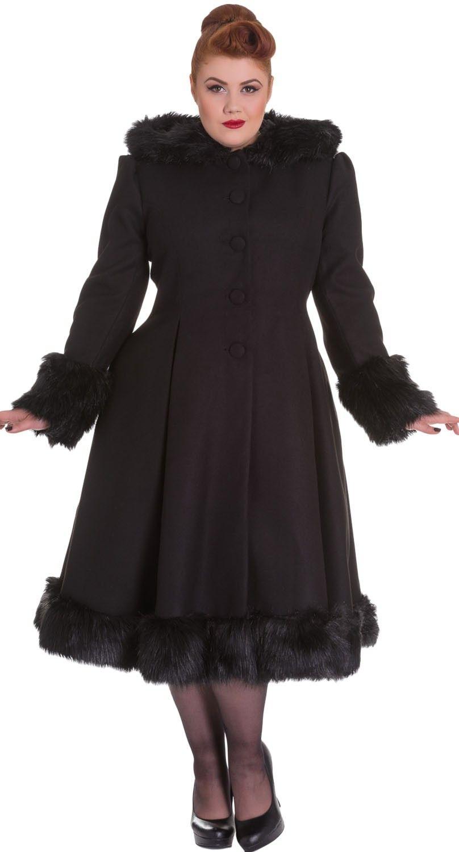 ae82bd195a51b Hell Bunny Elvira Coat in Black