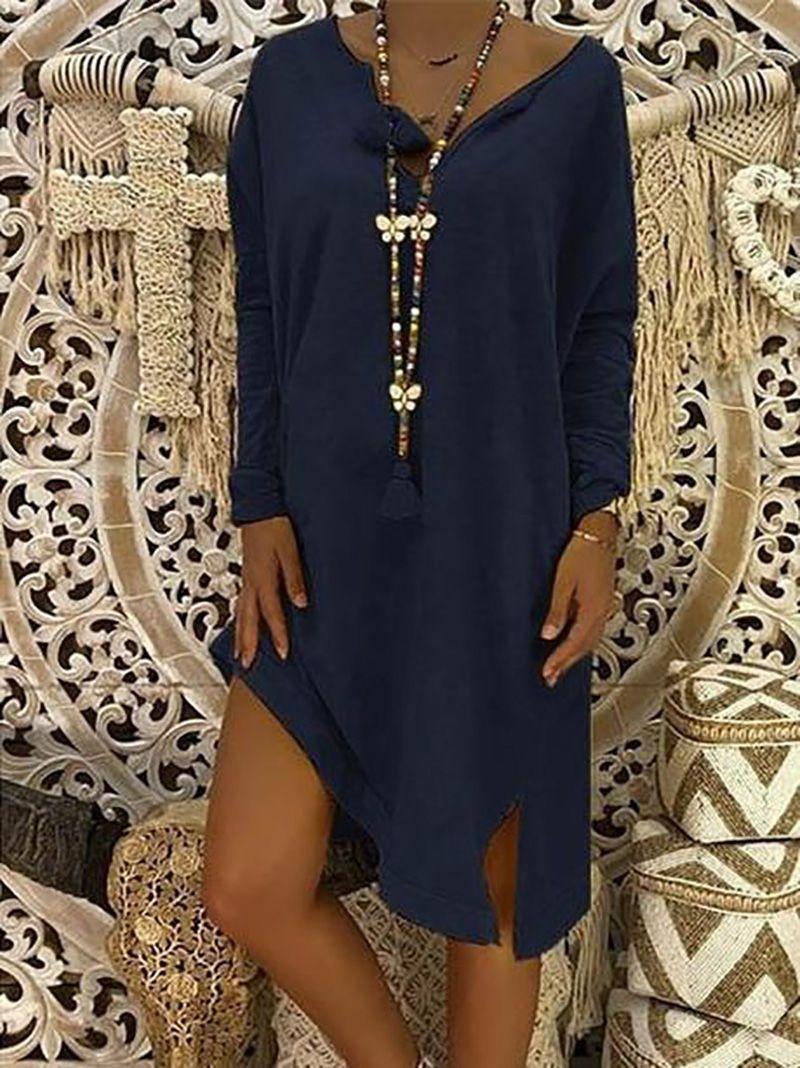 895f9837468de Women Plus Size Mid-length Loose Casual Dress – lalasgal