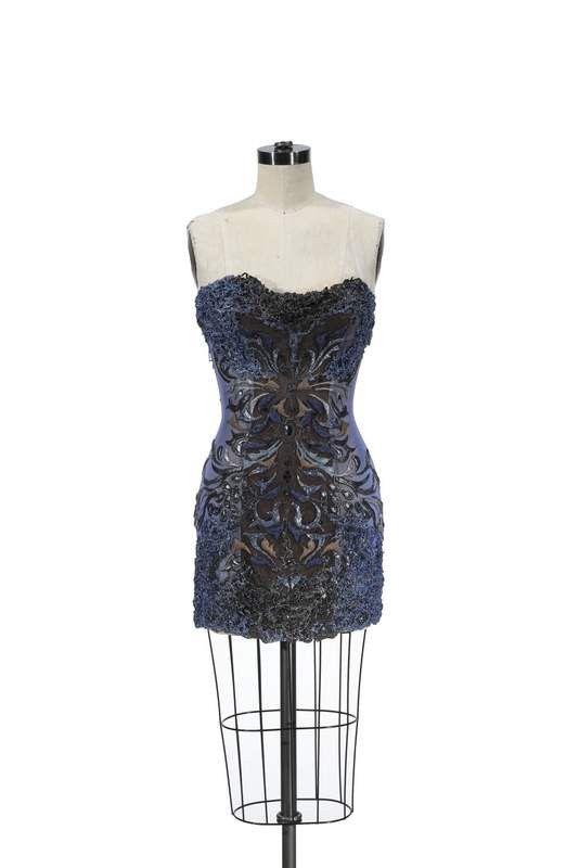 31fb28882fb NAVEE BLUE BLACK CORSET DRESS
