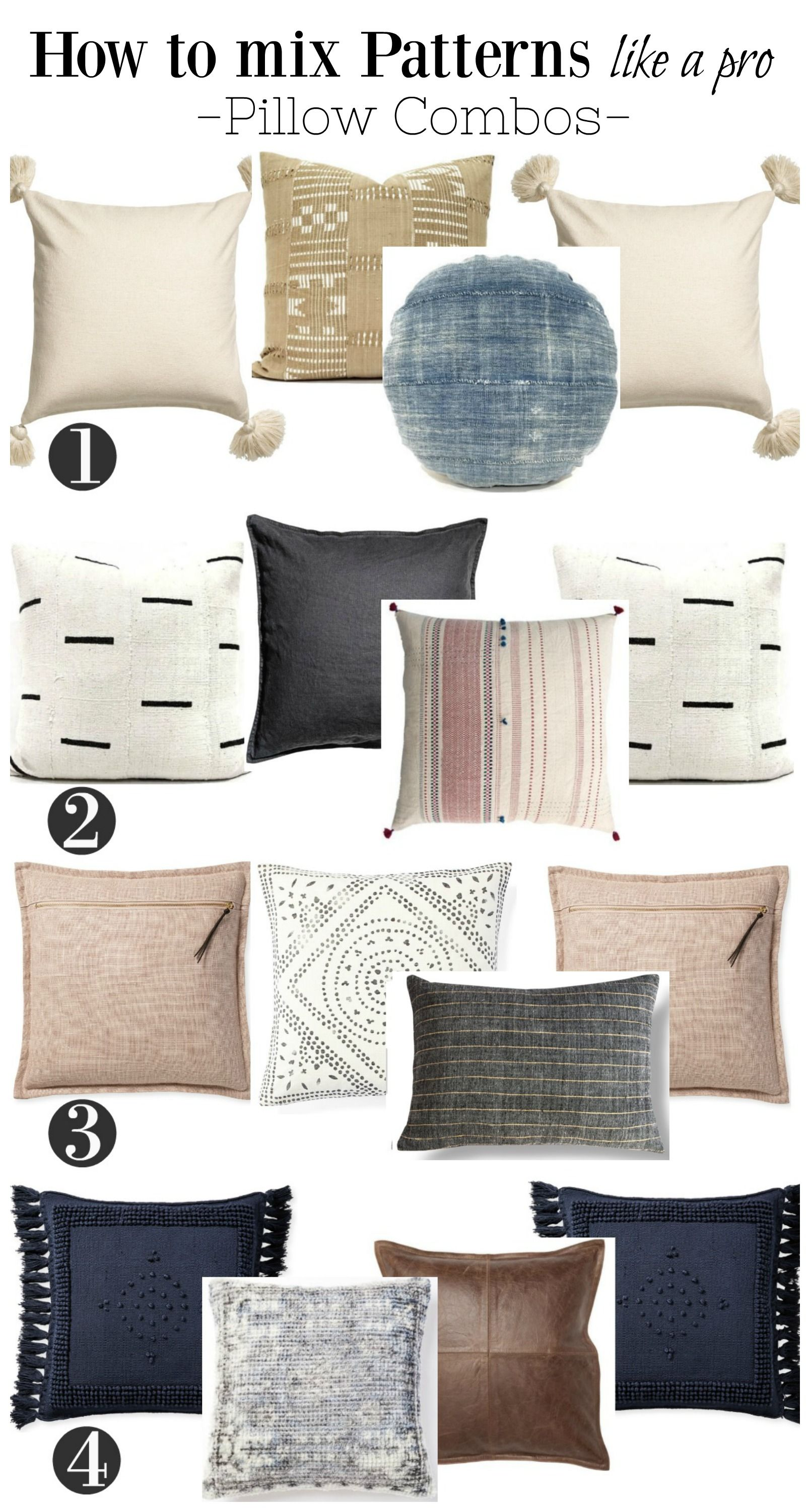 How to Mix Color and Patterns with Pillows- The Pillow \