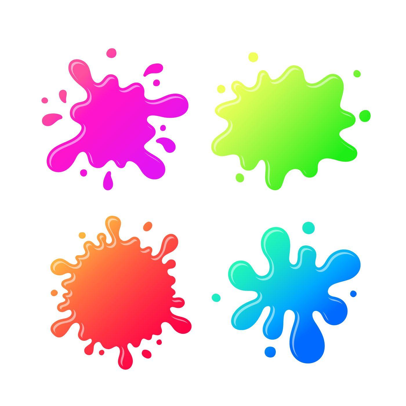 Desenhos animados coloridos da mancha de tinta  f1b37a76347c7