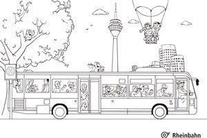 Spiel und Spaß Ausmalen Ausmalbilder Bus