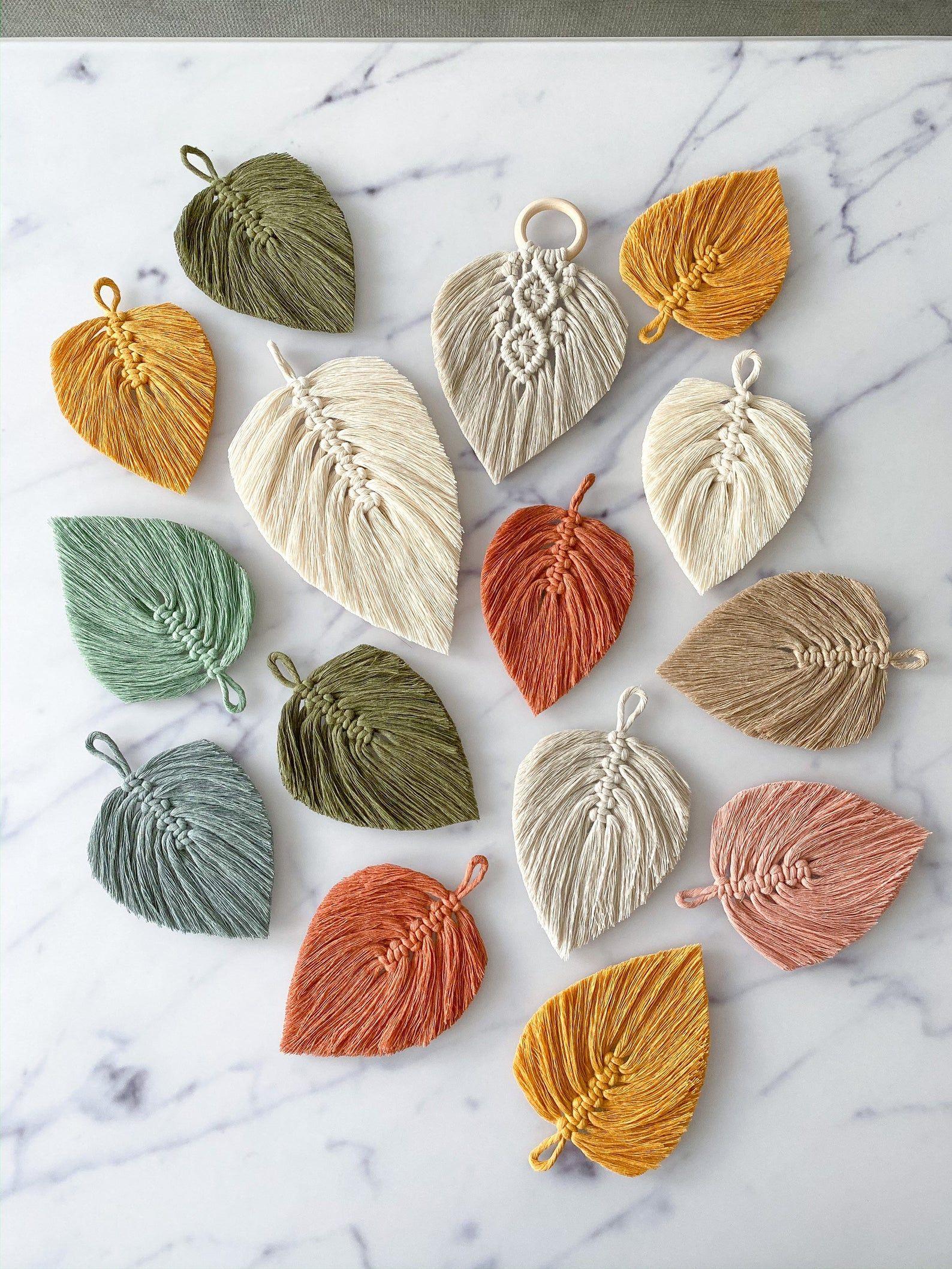 Makramee Feder Blatt - Macrame Feather Leaf Decoration