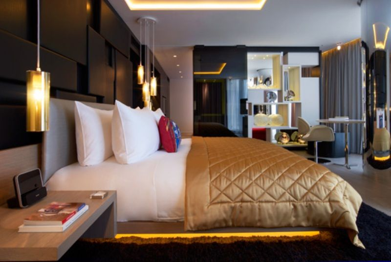 Contemporary Bedroom Hospitality Interior Design Of W London Leicester Square Hotel UK