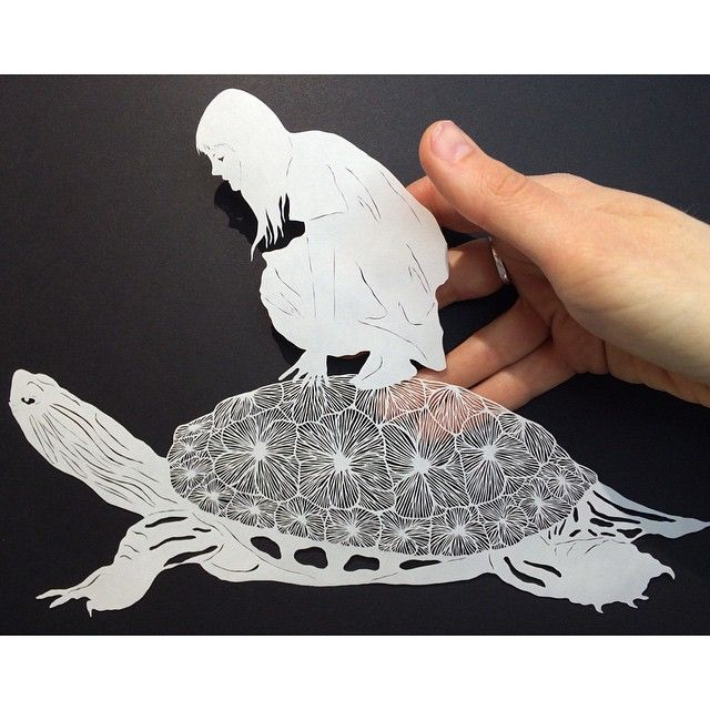 Selected carvings — maude white cardboard paper art