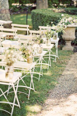 Outdoor Rustic Garden Wedding Ceremony #GardenWedding ...