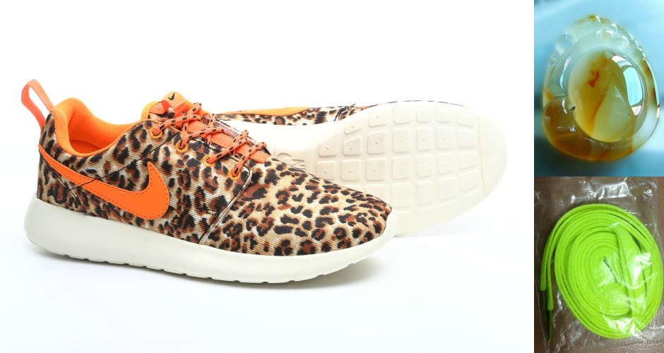 Nike Roshe Run London Leopard Womens Tour Orange 511882 511 free