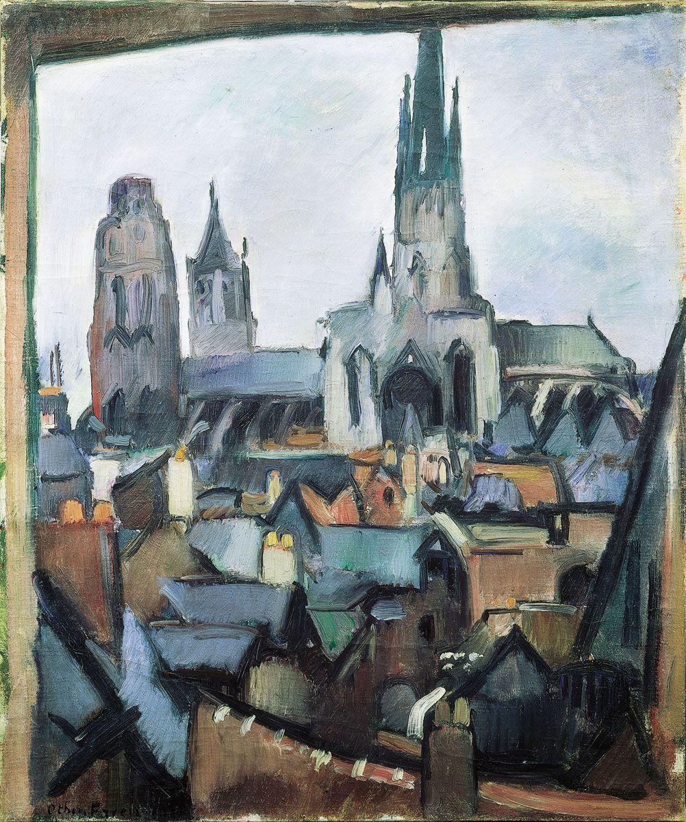 Peintres Ecole De Rouen othon friesz (1879-1949), rouen cathedral, 1908 | fauvisme