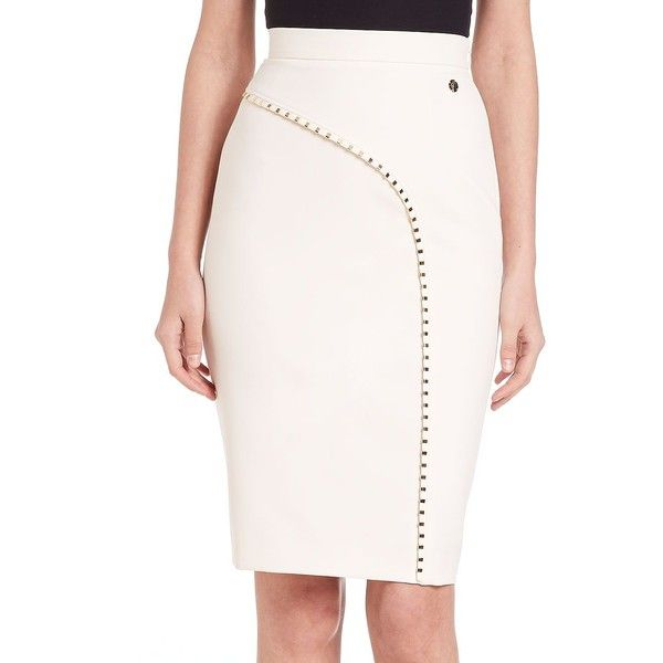Versace Collection Studded Pencil Skirt (53735 RSD) ❤ liked on ...