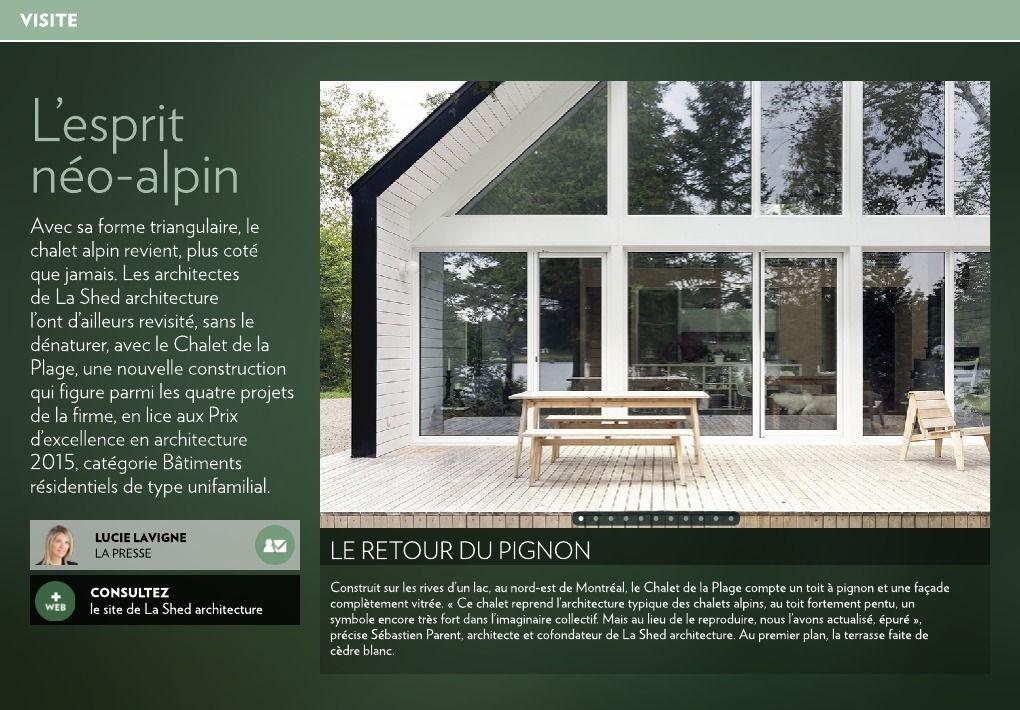 Lu0027esprit néo-alpin - La Presse+ Maison de mes rêvesqui sait, un - prix de construction d une maison