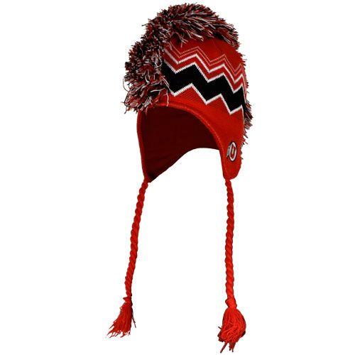 Creative Knitwear Arizona State University Sun Devils Striped Newborn Baby Knit Cap Maroon
