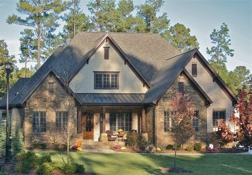 Exterior shingles design pictures remodel decor and for Brick stone combinations