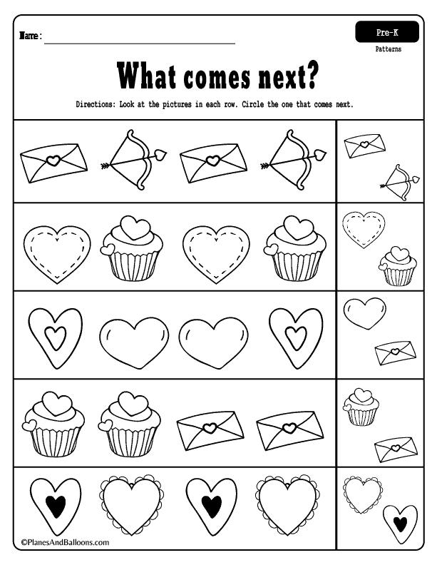 45++ Preschool worksheets valentines day Top