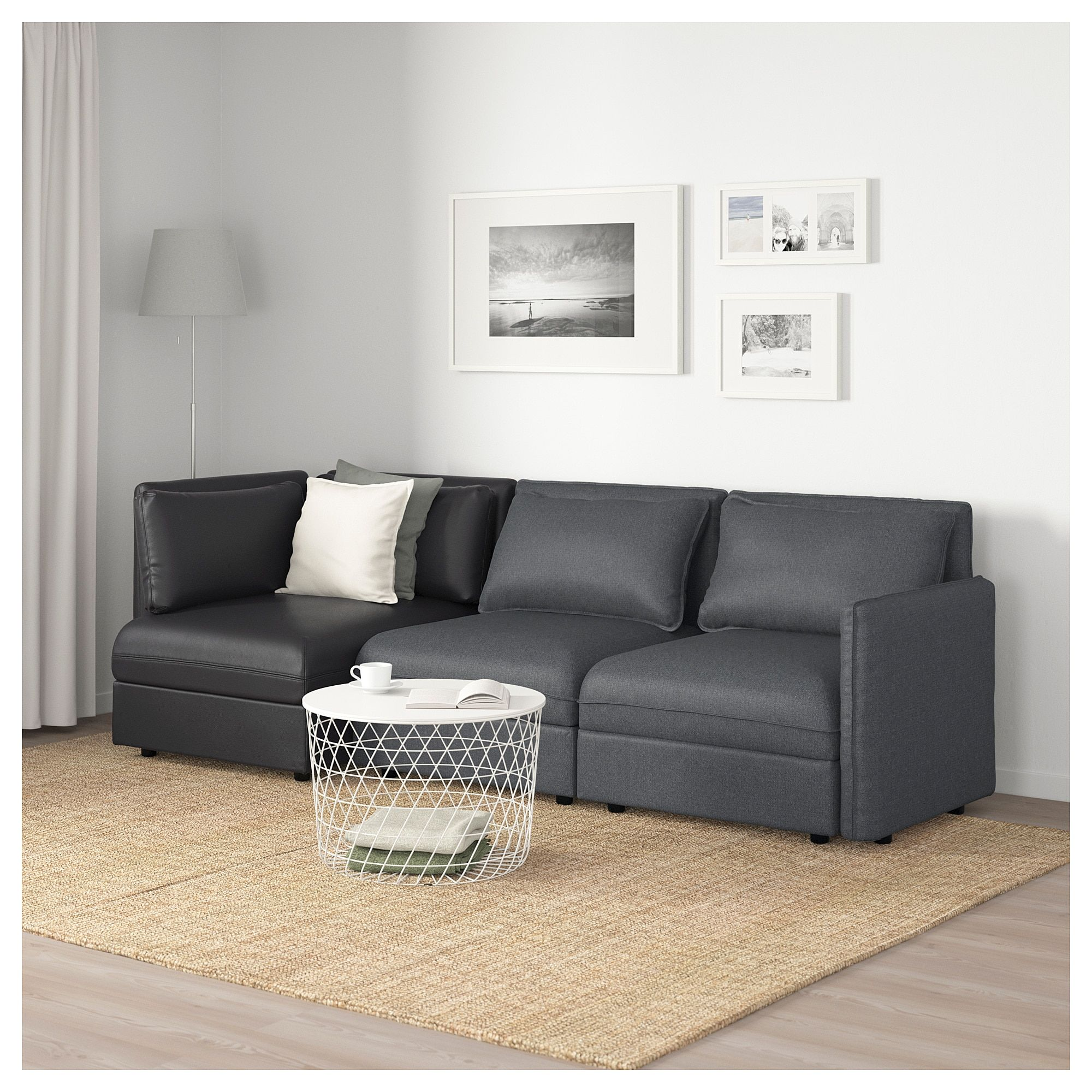 Ikea Vallentuna Canape Modulable 3 Places Avec Rangement In 2019 Products Sofa Bed With Storage Sofa Modular Sofa
