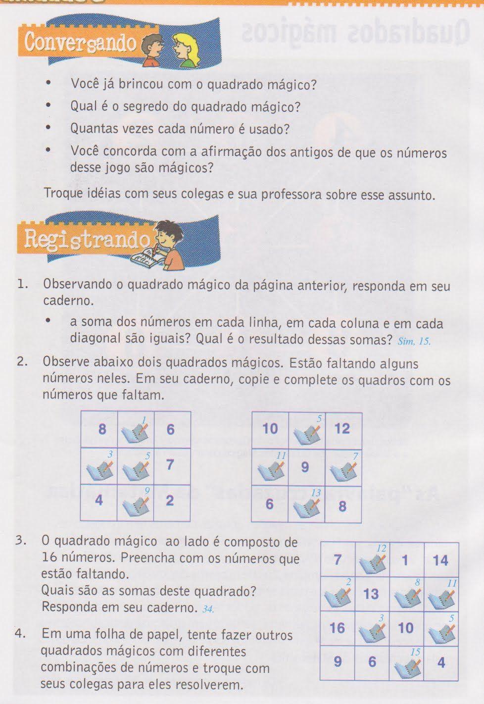 quadrados magicos
